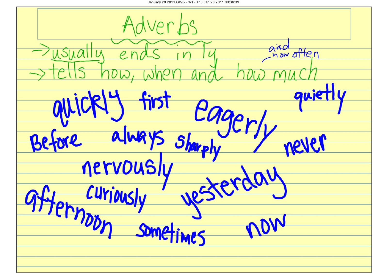 The Third Grade Scoop Adverbs Review