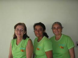 Ezídia, Ana Inês e Alvina.
