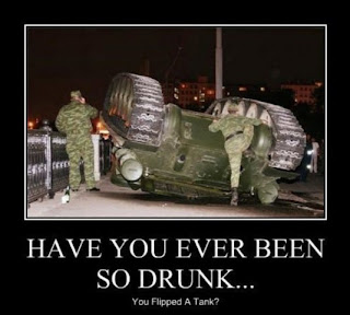 funny pictures have you ever been so drunk you flipped a tank, demotivational, motivational, motivational army, demotivational army, army pictures, funny army pictures, motivational pictures