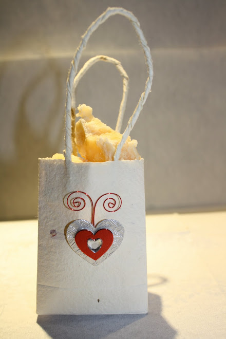 Handmade Bag with Love Heart Butterfly