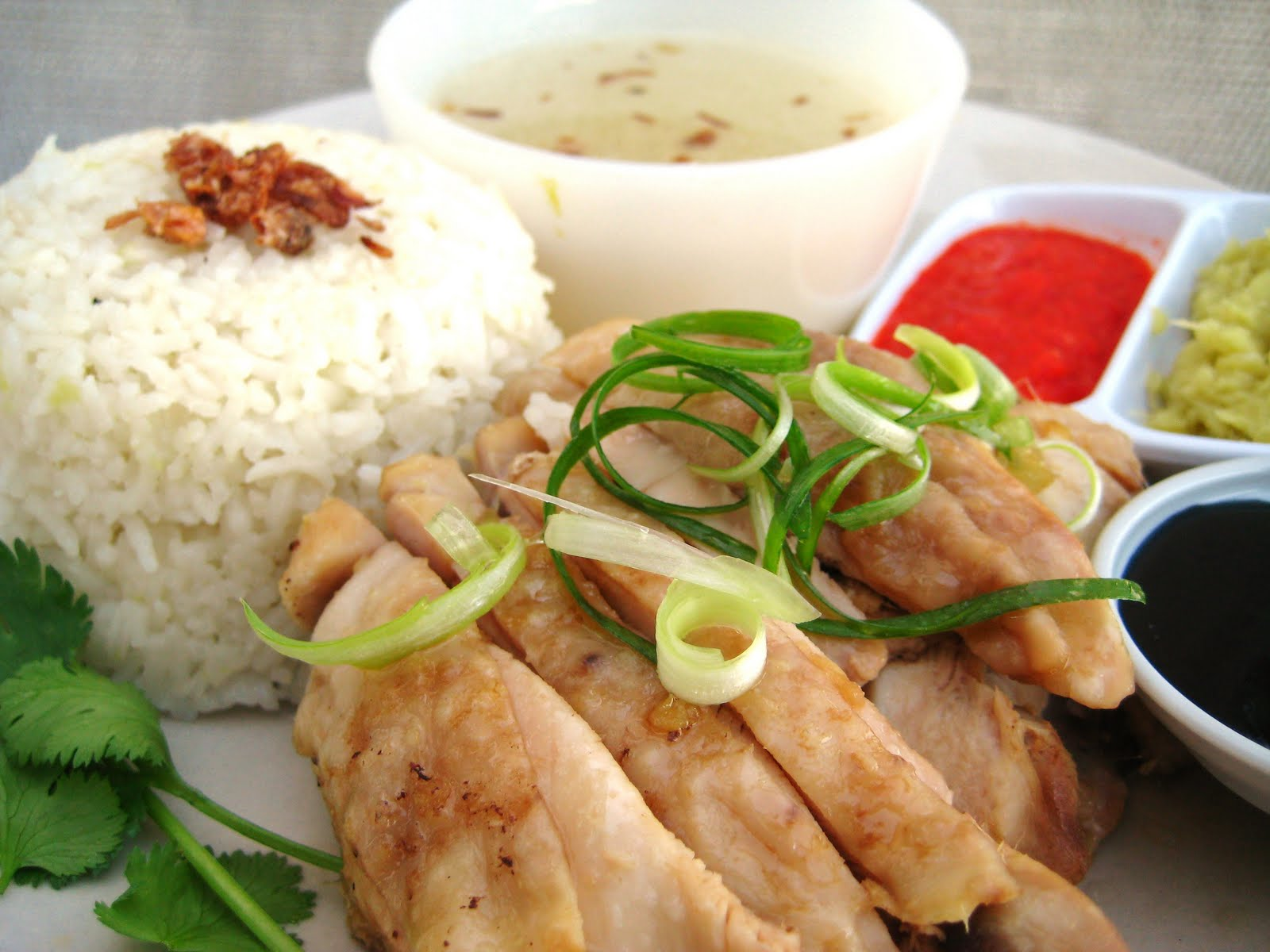 ... whilst I love a lot of different foods, I Love Hainanese Chicken Rice