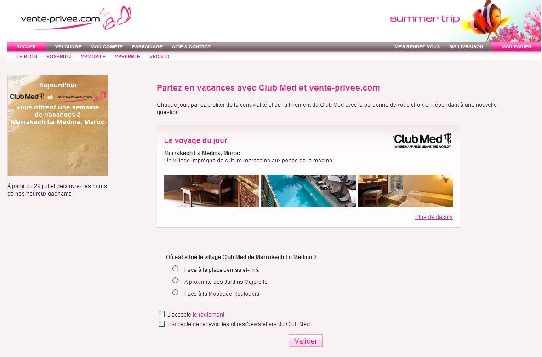 Vp summer camp des marques des prix tr s l gers l 39 alchimie digitale - Frais de retour vente privee ...