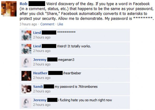 Funny Facebook Status Pick Up Lines : hilarious-clever-facebook-status-update-password-stealing-fail-funny ...