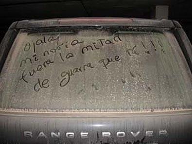 HUMOR. Mensaje en un coche