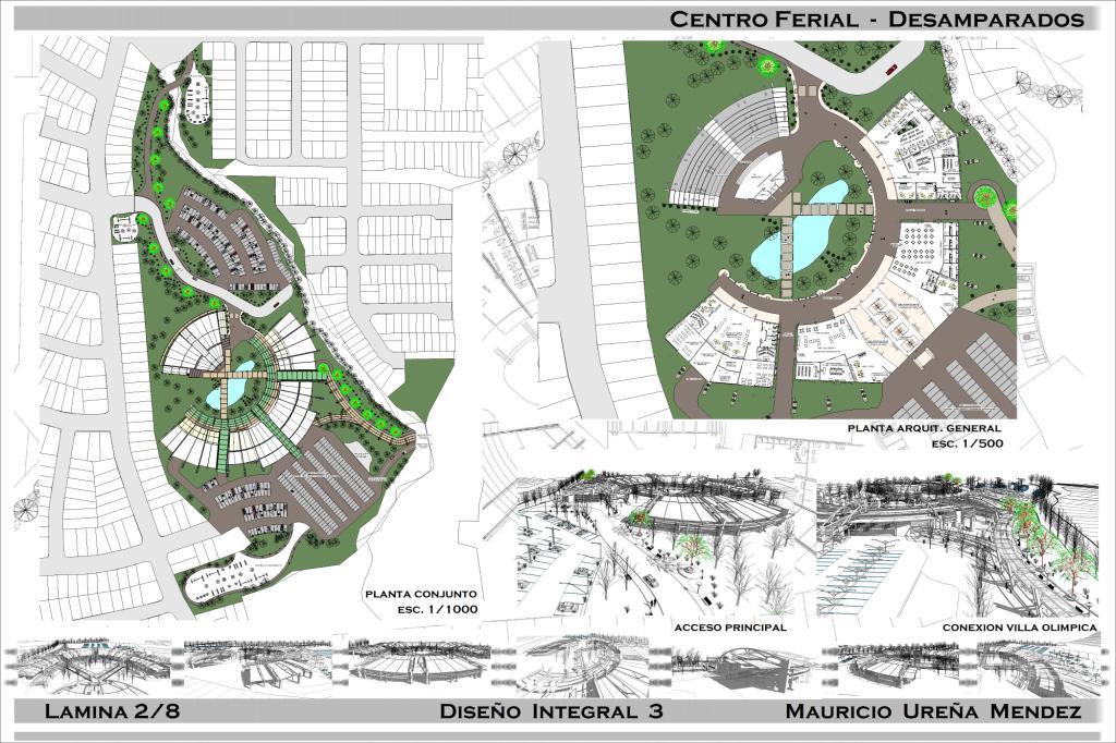 Arquitectura ingenieria centro ferial desamparados for Zonificacion arquitectonica
