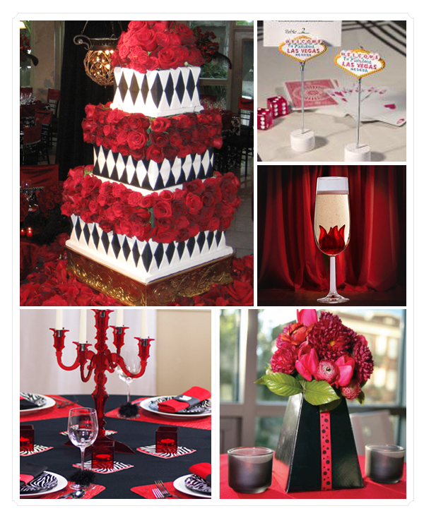 Black Red And White Wedding: Premium Flowers: Passion For Colors: Red