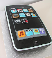 cake looks like ipod with apps