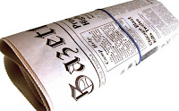 folded newspaper