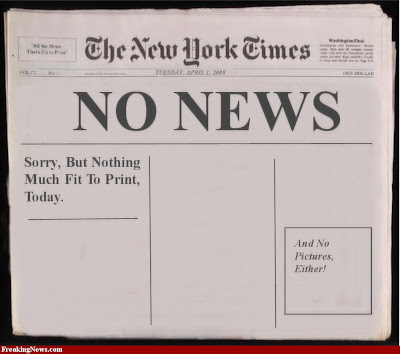 New York Times blank with no news