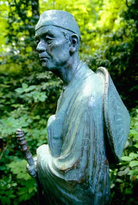 bronze statue of Basho