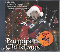 CD of bagpipe Christmas carols