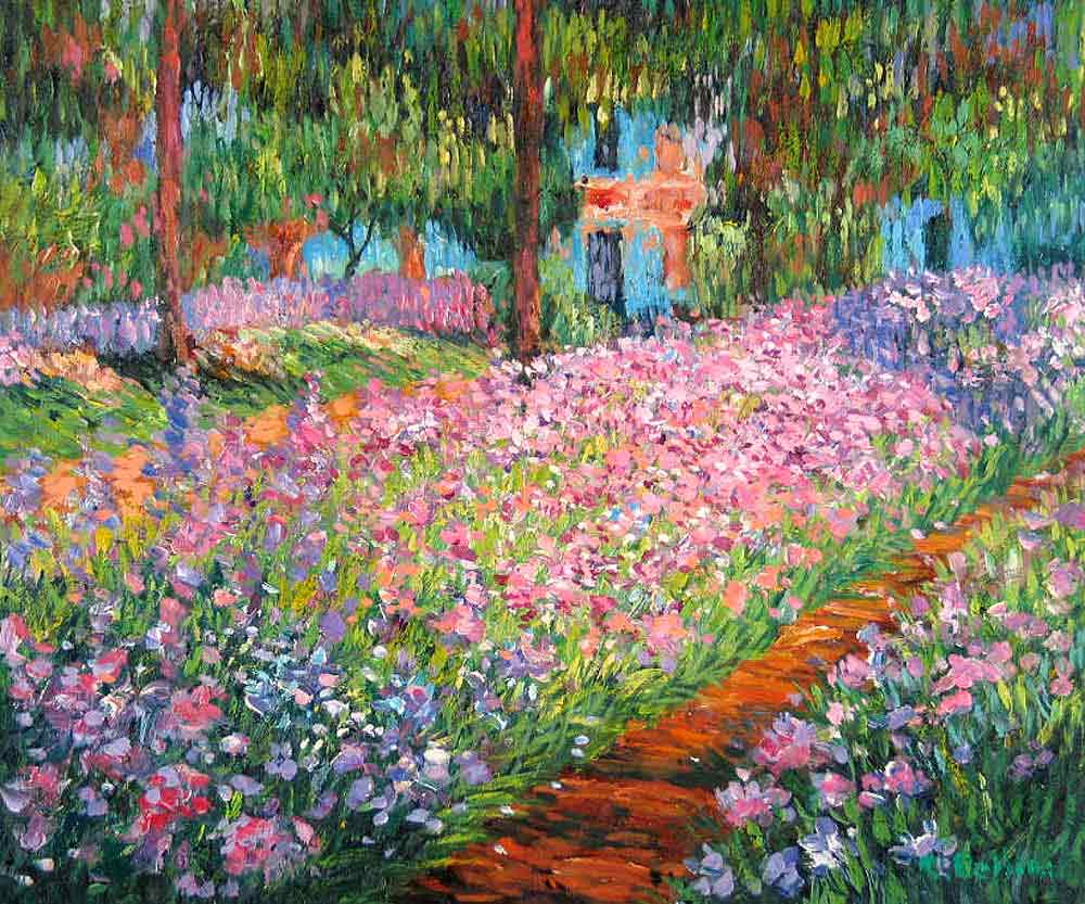 Oil paintings art gallery paintings by claude monet 1840 1926 french painter for Immagini quadri fiori
