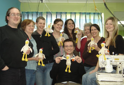 The AbbyShot Team with their Foster Farms Chickens, Courtesy of Terri Hardin
