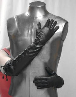 The Gothic Black Leather Dark Maiden Gloves