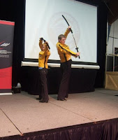 AbbyShot's Kill Bill Inspired Bride Jackets at the MRH Fashion Show (now with more sword!)