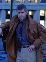 AbbyShot Customer Fox in his Blade Runner inspired Deckard Coat - Pose 2