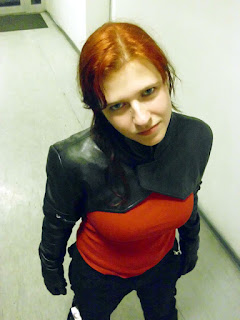 A German customer in her AbbyShot GIG Shrug, inspired by Major Motoko Kusanagi of Ghost in the Shell