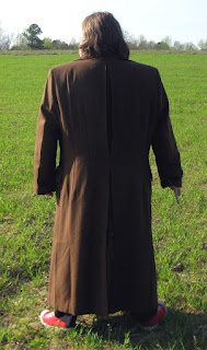 AbbyShot Customer Brian in his Doctor Who Tenth Doctor's Coat XXL - Back View