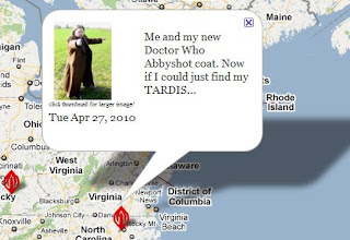 Abbyshot, customer photo, google map, Tenth Doctor coat