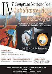 IV Congreso Nacional de Estudiantes de Psicología