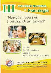 III Coloquio Nacional de Psicología