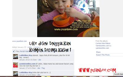 una2 - Minta tolong like gambar una join contest aksi makan !
