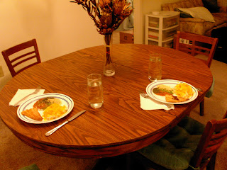Our table looks so small...but yet is bigger than in our old apartment o.0