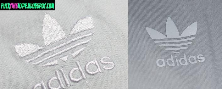 Adidas logo is stitched on. ADIDAS ??????? Rebellion print on the