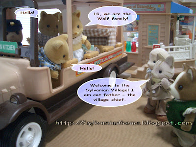 Sylvanian Families Story - wolf families arrived.