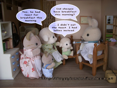Sylvanian Families Story - Sheepie was interviewed with Dr. Rab and found out Sheepie did not have a good breakfast.