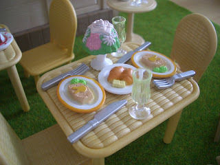 Sylvanian village food meal