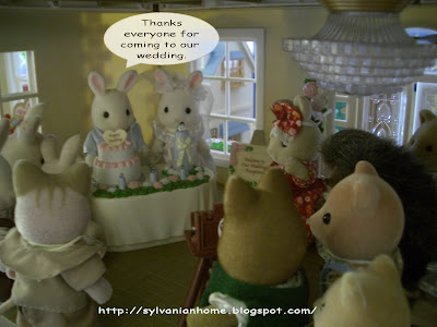 Sylvanian families wedding reception