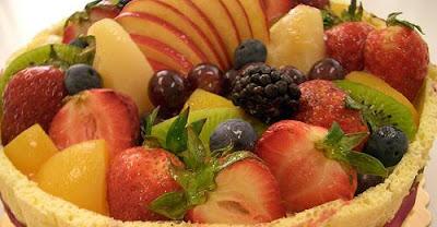 A basket of fruits.