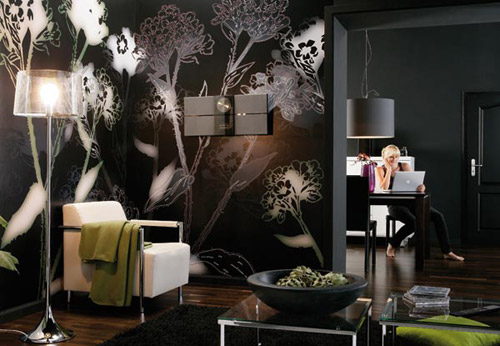 wallpaper interior decoration. Modern wallpaper decoration