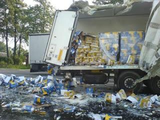 Hilarious Joke Beer Truck Crash