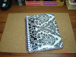 Capa de caderno c/ decoupage