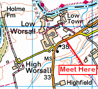 Map of Ship Inn, Worsall Area