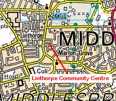 Map of the Linthorpe area