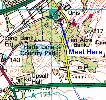 Map of the Flatts Lane Country Park area