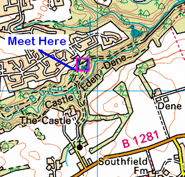 Map of the Castle Eden Dene area