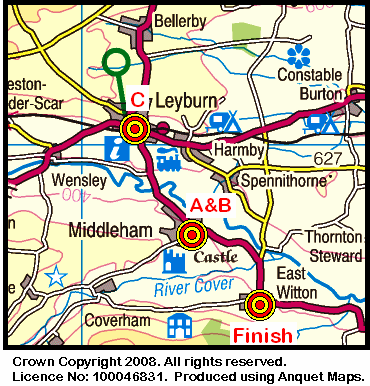 Map of the Middleham area