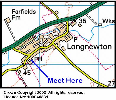 Map of the Longnewton area