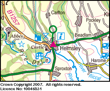 Map of the Helmsley area