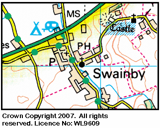 Map of Swainby area.
