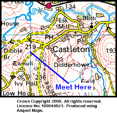 Map of Castleton Area