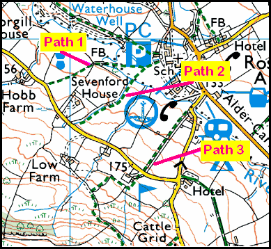 Missing Footpath near Rosedale Abbey