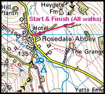 Map of the Rosedale Abbey area