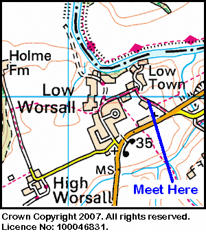 Map of the Worsall area.