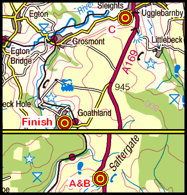 Map of the Horcum-Sleights area