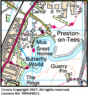 Map of the Preston Park area